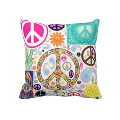 Collage of Peace Throw Pillow - 15% Off Pillows  Use Code at Checkout: ZCOZYPILLOWS  Offer expires 3/31/13