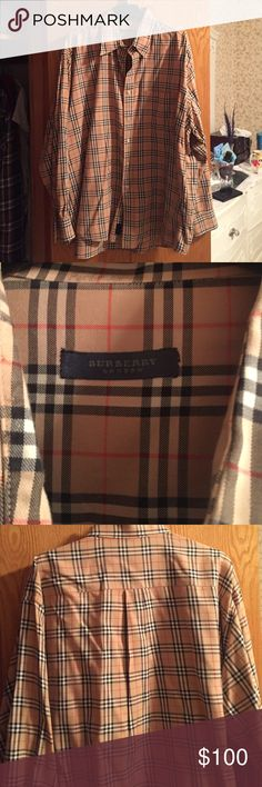 Burberry Button Up In perfect condition, worn once or twice. Burberry Shirts Dress Shirts