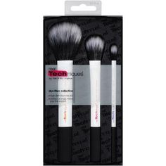 Real Techniques Duo-Fiber Brushes Collection, 3 count