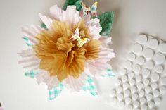 Cupcake liners flower tutorial
