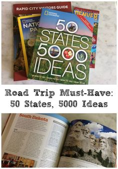 I love a good road trip. I also love how helpful new book from NatGeo -- 50 States, 5000 Ideas -- has been in planning our next family adventure.