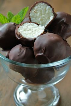 Dark Chocolate Coconut Truffles from Delicious as it Looks