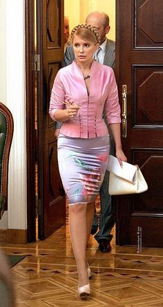 Yulia Tymoshenko, Ukraine, Classy Women, Playing Dress Up, Amazing Women, Designer Dresses, Peplum Dress, Style Me, Party Dress