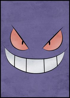 Gengar Pokemon Poster Art Print