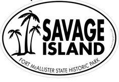 Oval sticker for Savage Island
