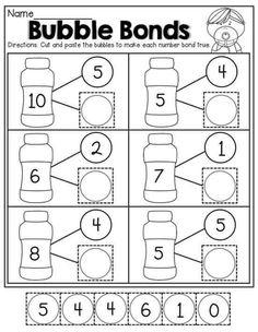 16 Number Worksheets for Kindergarten Number Bonds Worksheets The youngsters can enjoy Number Worksheets, Math Worksheets, Alphabet Worksheets. Number Bonds Worksheets, Number Worksheets Kindergarten, Preschool Math, Math Classroom, In Kindergarten, Number Bonds Activities, Alphabet Worksheets, Maternelle Grande Section, Math Numbers