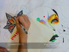 Copic Marker  Making film of Circulation(2011) 6Min by MinjaeLee. Making film of Circulation(2011)