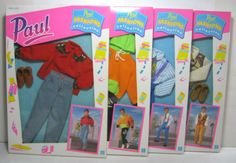 1991 Vtg Hasbro Sindy Paul Fashions Collection Complete Set of 4 MISB New | eBay