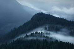 Landscape Photography by Kilian Schoenberger #757 | Creeping In  Fog creeping over a mountain saddle. The noiseless & noseless movement of fog is sometimes frightening. Sometimes it's hard to believe how fast fog can even absorb whole mountains | Bavarian Voralpen, Germany