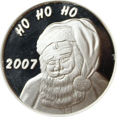 Great Deals On 2007 Christmas Santa Ho Ho Ho 1 oz Silver Art Round 999 Pure At Gainesville Coins. Securely Buy Gold And Silver Online. Santa Ho Ho Ho, Gold And Silver Coins, Silver Rounds, 1 Oz, Monet, Really Cool Stuff, Holiday Gifts, Pure Products, Christmas