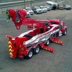 Heavy duty tow truck ready and waiting to come and save the day. Need a service you can count on? This has you covered. Rv Truck, Big Rig Trucks, Semi Trucks, Cool Trucks, Heavy Duty Trucks, Heavy Truck, Custom Big Rigs, Custom Trucks, Towing And Recovery