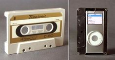Homemade Ipod case made from an old cassette tape.