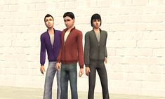 Mod The Sims - Set of TSS Jackets as separates