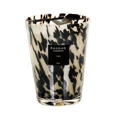 PEARLS Black Scented Candle 24 cm