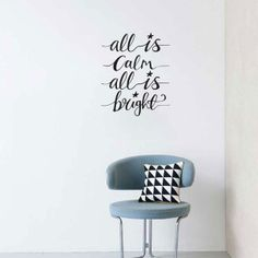 All is calm Custom Wall Stickers, Wall Sticker Design, Removable Wall Stickers, Wall Decals, Winter Wonderland Decorations, Christmas Is Coming, Service Design, Holiday Ideas, Christmas Ideas