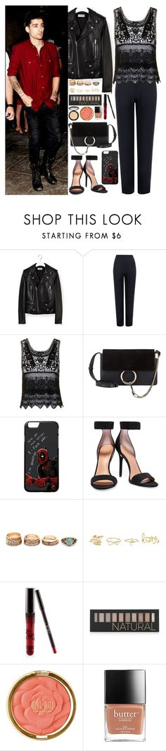 """Deadpool"" by zayngirl27 ❤ liked on Polyvore featuring Yves Saint Laurent, WearAll, Topshop, Chloé, Marvel, Halston Heritage, Charlotte Russe, Kylie Cosmetics, Forever 21 and Milani"