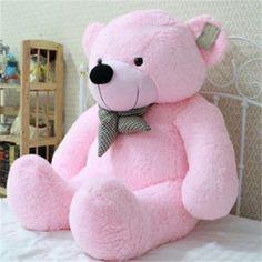 "39"" Stuffed Giant 100CM Big Pink Plush Teddy Bear Huge Soft 100% Cotton Doll Toy"