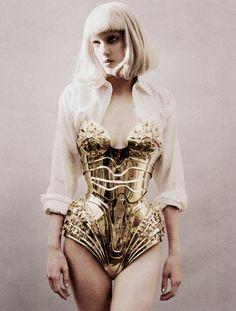 Thierry Mugler Gold Metal Corset