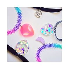 Alien Choker 90s Grunge Choker Pastel Goth Tattoo Choker Pastel Grunge... ❤ liked on Polyvore featuring jewelry, necklaces, choker necklace, green necklace, tattoo choker, gothic choker and punk necklace