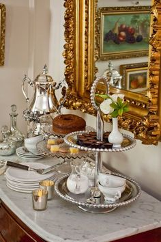 A little vintage glam for an afternoon tea. Serve with vintage china. Rent at www.vintagedishrental.com