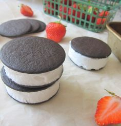 Cupcakes and Kale: Hockey Pucks (aka Coconut Whip Frozen Sandwiches)