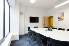 Concentrix, a global software and business services provider, required a fast track fit out throughout their new three-storey office. Conference Room, Software, Track, London, Business, Fitness, Table, Furniture, Design