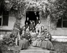 """""""May 1865. """"City Point, Virginia. General Rufus Ingalls and group."""" The group is back, slightly rearranged and expanded. Wet-plate glass negative. Library of Congress"""""""