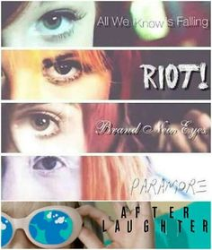 Paramore's Hayley Williams during each Paramore era Paramore Lyrics, Hayley Paramore, Paramore Hayley Williams, Music Lyrics, Emo Bands, Music Bands, Rock Bands, Music Is Life, My Music