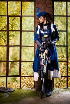 Overwatch Ana Captain Amari Cosplay Costume Outfit Jacket Coat Party Clothing