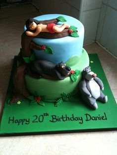 jungle-book-themed-birthday-cakes  http://cakesandcupcakesmumbai.com/2012/11/21/jungle-book-cakes-cupcakes-birthday-mumbai/#