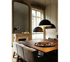 STUDIO KO: in Paris everything is just a little more glamorous Stchu-Moon pendant lights from Catellani & Smith