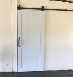 Pinecroft 36 in. x 84 in. Millbrooke White H Style PVC Vinyl Barn Door with Sliding Door Hardware Kit MLB3684HKD at The Home Depot - Mobile