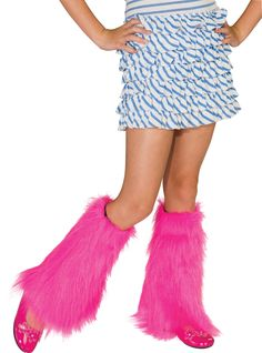 Fluffies Costume Leg Warmers Child: Pink