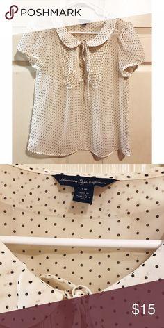 American Eagle Polka Dot shirt American Eagle Polka Dot shirt. Size small. Chiffon. Like new! American Eagle Outfitters Tops Blouses