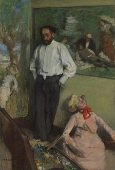 Portrait of Henri Michel-Lévy- Edgar Degas, ca. 1878. Gulbenkian Museum, Lisbon Portugal http://museu.gulbenkian.pt #Degas