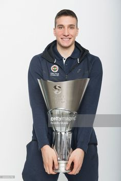 Bogdan Bogdanovic, #13 of Fenerbahce Istanbul pose with the Trophy duringTurkish Airlines EuroLeague Basketball Final Four istanbul 2017 Champion Photo Session at Sinan Erdem Dome on May 21, 2017 in Istanbul, Turkey.