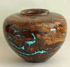 Richard Fitzgerald | Spalted Oak Burl with turquoise inlay.