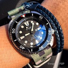 Seiko #SRP777 Turtle Ceramic Vintage Bezel Insert Mod • Photo by @snaps_by_p2p • Visit WWW.DLWWATCHES.COM for more custom Seiko mod parts, free international shipping