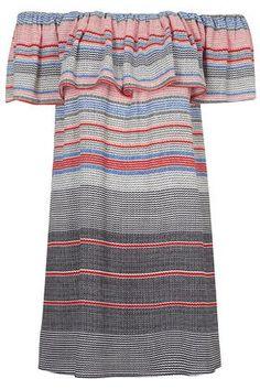 Striped Bardot Dress$68 top shop