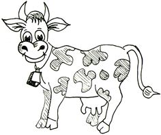 How to Draw Cartoon Cows / Farm Animals Step by Step Drawing Tutorial