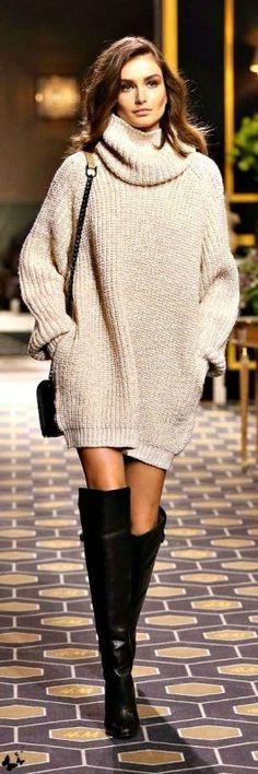 свитер платье оверсайз