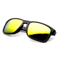51fcccc31cdcd Men s Action Sports Flash Revo Lens Square Aviator Sunglasses 9235