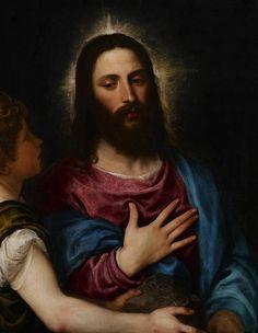 The Temptation Of Christ c.1516-25 (oil on panel), Titian (Tiziano Vecellio) (c.1488-1576)