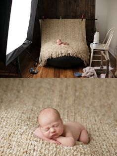 Behind the scenes newborn photography. *Officially finding a place with space for studio work is on the top of the list*