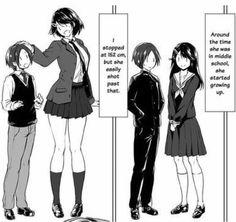 Where are the tall women 314 by zaratustraelsabio on DeviantArt Thicc Anime, Kawaii Anime, Anime Guys, Anime Art, Cute Comics, Funny Comics, Tall Girl Short Guy, Tall Girls, Manga Comics