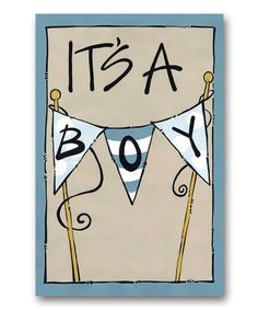 Loving this 'It's a Boy' Flag on #zulily! #zulilyfinds