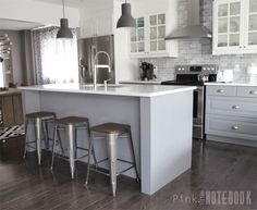 Real Ikea Kitchen Bodbyn Gray