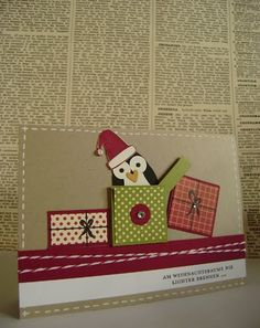 Schon wieder ein paar Tage nicht gebloggt.. So geht das aber nicht! Für eine Großbestellung, bei der auch ein paar Pinguinkarten enthalten s...