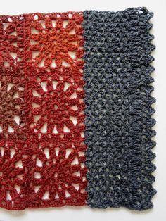 VMSomⒶ KOPPA - Autumn scarf - Gray edge