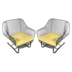 Pair of 1950's Sculptura Garden Lounge Chairs by Woodard | From a unique collection of antique and modern garden furniture at http://www.1stdibs.com/furniture/building-garden/garden-furniture/